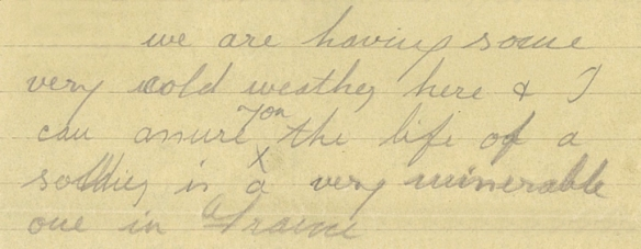 Letter from Frederick to Muriel, 1918