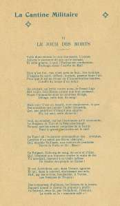 Poem from La Cantine Militaire