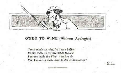 Owed to Wine poem